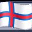 Emoji de bandera de Islas Feroe en Facebook