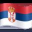 flag: Serbia Emoji on Facebook
