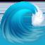 water wave Emoji on Facebook