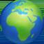 globe showing Europe-Africa Emoji on Facebook