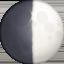 first quarter moon Emoji on Facebook