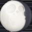 waning gibbous moon Emoji on Facebook