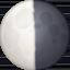 last quarter moon Emoji on Facebook