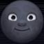 new moon face Emoji on Facebook