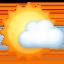 sun behind small cloud Emoji on Facebook