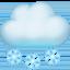 cloud with snow Emoji on Facebook