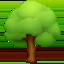 evergreen tree Emoji on Facebook