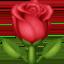 Emoji de rosa en Facebook