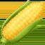 玉米上的Facebook表情符号
