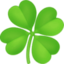 shamrock Emoji on Facebook