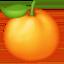 tangerine Emoji on Facebook