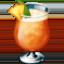 Emoji de bebida tropical en Facebook