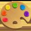 artist palette Emoji on Facebook
