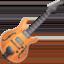 Emoji de guitarra en Facebook