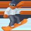 snowboarder Emoji on Facebook
