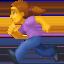 woman running Emoji on Facebook