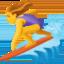 woman surfing Emoji on Facebook