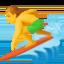 man surfing Emoji on Facebook
