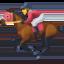 horse racing Emoji on Facebook