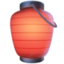 red paper lantern Emoji on Facebook