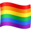 rainbow flag Emoji on Facebook