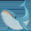 鲸鱼上的Facebook表情符号