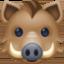 pig Emoji on Facebook
