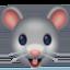 老鼠头上的Facebook表情符号