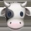 cow face Emoji on Facebook