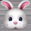 兔上的Facebook表情符号
