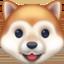 dog face Emoji on Facebook