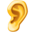 ear Emoji on Facebook