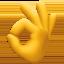 OK hand Emoji on Facebook