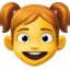 girl Emoji on Facebook