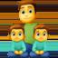 family: man, boy, boy Emoji on Facebook