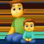 family: man, boy Emoji on Facebook