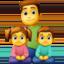 family: man, girl, boy Emoji on Facebook