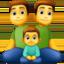 family: man, man, boy Emoji on Facebook