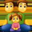 family: man, man, girl Emoji on Facebook