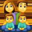 family: man, woman, boy, boy Emoji on Facebook