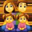 family: man, woman, girl, girl Emoji on Facebook