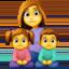 family: woman, girl, boy Emoji on Facebook