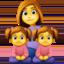 family: woman, girl, girl Emoji on Facebook
