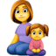 family: woman, girl Emoji on Facebook