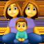 family: woman, woman, boy Emoji on Facebook