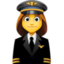 woman pilot Emoji on Facebook