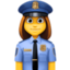 woman police officer Emoji on Facebook