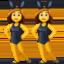 women with bunny ears Emoji on Facebook