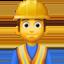 man construction worker Emoji on Facebook