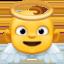 天使上的Facebook表情符号